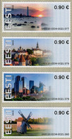 Estonia - 2020 - Lighthouse, Old And Modern Architecture, Windmill - Mint ATM Stamp Set - Estonia