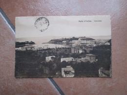 ISCHIA Porto D'Ischia Panorama 1920 Affrancatura N.2 Valori Commemorativi - Napoli (Naples)
