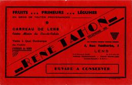 Buvard : : 5, Rue Faldherbe, LENS -  RENE TAHON - Levensmiddelen