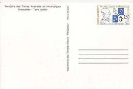 CP N° 01 * CARTE TERRES AUSTRALES FRANCAISES  * AMIRAL MAX  DOUGUET  *  Voir Les 2 Scans - Entiers Postaux