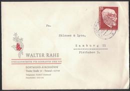 IW124   Germany 1957 - Walter Rahe Spezialvertreter Für Kaffee Und Tee Dourtmund - Mi.Nr. 278 - Brieven En Documenten