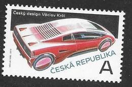 CZECHIA, CZECH REPUBLIC, 2019, MNH, CZECH DESIGN, CARS, VACLAV KRAL, 1v - Coches
