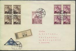 Böhmen Und Mähren # 52 EIGENHÄNDIG Einschreibebrief Prag13 31.5.40 > Vaclavice - Storia Postale