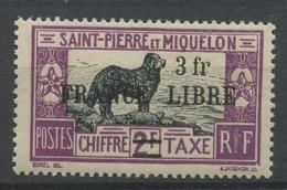 Saint Pierre Et Miquelon (1942) Taxe N 56a (Luxe) - Ongebruikt