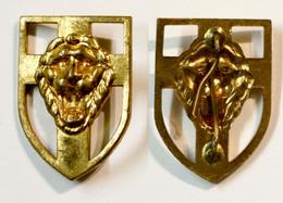 Militaria-BE-terre-insigne_brigade Piron_01a_doré_WW2_20-22 - Army