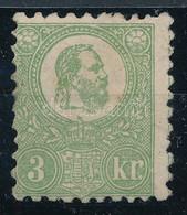 * 1871 Kőnyomat 3kr V. Tipusú Jó Minőségű Bélyeg Eredeti Gumival, Falcos (240.000) / Good Quality Stamp With Original Gu - Sin Clasificación