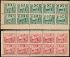 ** Hohe Rinne 1924 Fogazott Piros és Zöld 10-es Kisív. (200.000) / Red And Green Minisheets Of 10. Signed: Jakots (a Pir - Sin Clasificación