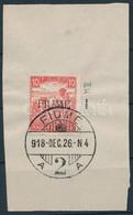 Fiume 1918 Fehérszámú Arató 10f M II, Kivágáson. Certificate: Bodor (Sassone EUR 16.000,-) - Sin Clasificación