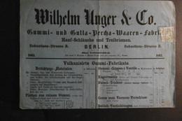 Preußen Mi. 14(Mgl)RA 3 Berlin 1863 Auf Angebotsliste Gummi Warenfabrik Selten - Preussen