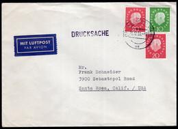 Deutschland - 1959 - Postkarte - Mit Luftpost - USA - A1RR2 - Cartas