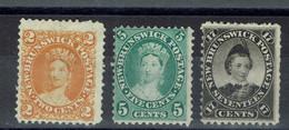 Nouveau-Brunswick - N° 5 (*) - 6 (*) - 9 X - - Unused Stamps