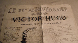 GIL BLAS, FEV 1885, EXCEPTIONEL, Le 83 Anniversaire De VICTOR HUGO, Journal - 1850 - 1899