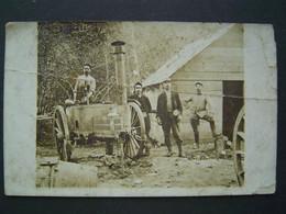 CARTE PHOTO Ancienne :SOLDAT COCHIN - MILITAIRE 6 ème GENIE Sur La Roulante 1914 - 1915 - War, Military
