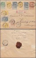 Belgique 1894 - Entier Postal Type 57sur Lettre Recommandée De Bruxelles à Oderberg-Allemagne......  (DD) DC-9661 - 1893-1900 Barba Corta