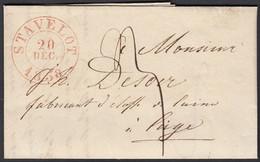 Belgique 1838- Précurseur De STAVELOT à Desltination Liège........  (DD) DC-9660 - 1830-1849 (Belgio Indipendente)