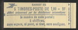 CARNET LIBERTE DE DELACROIX 5 TP à 1,80 Fr Rouge Gomme Mate  N° 2220-C1a Cote 10 € - Definitives