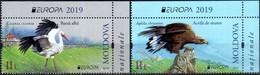 "Moldova 2019 ""«EUROPA 2019»:National Birds"" 2v Quality:100% - Moldavia"
