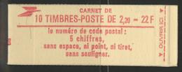 CARNET LIBERTE DE DELACROIX 10 TP à 2,20 Fr Rouge Gomme Brillante N° 2376-C2 Cote 14 € Vendu à La Valeur Faciale - Definitives
