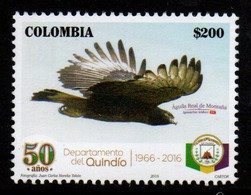 A595F - KOLUMBIEN - 2016, -MNH- QUINDIO DEPARTMENT, 50 YEARS- ROYAL MOUNTAIN EAGLE - Kolumbien