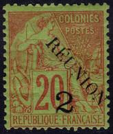 ✔️ Reunion 1891 - Dubois Avec Surcharge Type III , Avec Accent - Yv. 31 B * MH - €11 - Nuevos