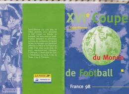 20/544 Encart Fdc 1/06/96 XVI Coupe Du Monde De Football France 98,ST ETIENNE - Zonder Classificatie