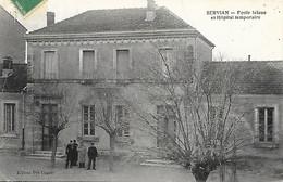 34-Servian-Ecole Laïque Et Hôpital Temporaire - Autres Communes