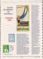 20/545 DOCUMENT Fdc 12/12/95 XVI Coupe Du Monde De Football France 98, - Zonder Classificatie