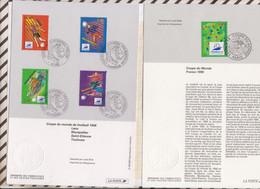 20/546 Lot De 2  DOCUMENT Fdc 12/12/95 XVI Coupe Du Monde De Football France 98, - Zonder Classificatie