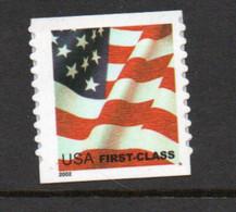 USA Scott # 3630        2002  US Flag (Die Cut)     37c  Mint NH  (MNH) - Nuevos