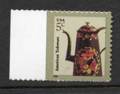 USA Scott # 3846     2004  American Toleware 5c   Mint NH  (MNH) - Nuevos