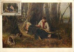 RUSSIA Maximum Card Maxicard Ornithologiste à L'affût PEROV YT 1805 - Tarjetas Máxima
