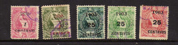 Guatemala (1898)-  5 Timbres- Surcharges  - Oblit - Guatemala