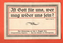 LOB1-13 Propagande Allemande, En Souvenir Du 5 Août 1914, Déclaration De Guerre De L'Angleterre. Non Circulé - Patriotic