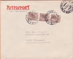 Italien: Yvert-Nr. 715 Auf Brief, Torino Ferrovia 2.7.1955 In Die Schweiz - 1946-60: Marcophilie