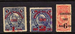 Guatemala (1902)-  3 Timbres Surcharges   - Obliteres Et Neufs Sg - Guatemala
