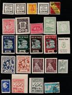 1937. * SELLOS LOCALES. Lote De 24 Sellos - Vignetten Van De Burgeroorlog