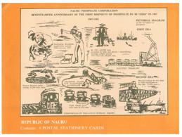 (Z 20) Nauru - Postcards Folder (6 Postcards + 1 Envelope Folder) - ANPEX 82 - Nauru