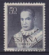 1951 España  Ed 1102 Claret Personajes *MH Buen Estado, Nuevo Con Charnela  (Edifil) - 1951-60 Ongebruikt