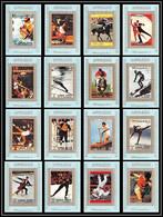 0063/ Ajman Deluxe Blocs ** MNH Michel N° 2717 / 2732 Jeux Olympiques (olympic Games) MUNICH 1972 Tirage Bleu Blue - Verano 1972: Munich