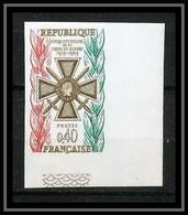 France N°1452 Croix De Guerre War 1914/1918 Coin De Feuille Non Dentelé ** MNH (Imperforate) - Non Dentellati