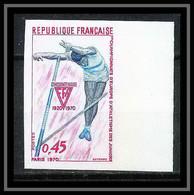 France N°1650 Pole Vault Saut A La Perche Athlétisme Juniors Non Dentelé ** MNH (Imperforate) - Non Dentellati