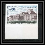 France N°1651 Salines De Chaux Nicolas Ledoux Doubs Non Dentelé ** MNH (Imperforate) - Non Dentellati