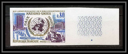 France N°1658 ONU (uno) Nations Unies United Nations Non Dentelé ** MNH (Imperforate) Cote 50 Euros - Non Dentellati