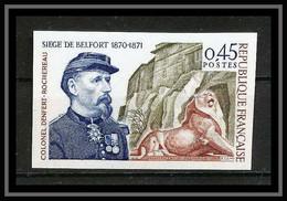 France N°1660 Belfort Lion Denfert Rochereau Cote 40 Non Dentelé ** MNH (Imperforate) - Non Dentellati