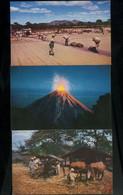 EL Salvador Lot Of 3 Postcards Volcano Izalco-Ateos - Salvador