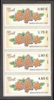 2020 Estonia ATM EE01 MNH Stamp Set Of All Various Nominals Christmas  Mi 5 - ATM - Frama (vignetten)