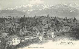 """/ CPA FRANCE 74 """"Mornex, Et La Chaine Du Mont Blanc"""" - Sonstige Gemeinden"""