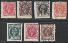 1905. */º Edifil: ELOBEY, ANNOBON Y CORISCO 19/23, 26, 29. 7 Valores - Elobey, Annobon & Corisco