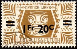 Wallis Et Futuna Obl. N°  151 - Série De Londres. 1f20 Sur 5c Bistre-brun - Used Stamps