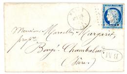 DROME LAC 1873 MORAS + BM = LETTRE DE LENS (LENS L'ETANG)  VOIR LES SCANS - 1849-1876: Periodo Clásico